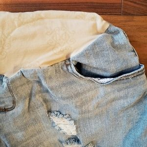 Jessica Simpson Maternity Light Wash Jean Shorts